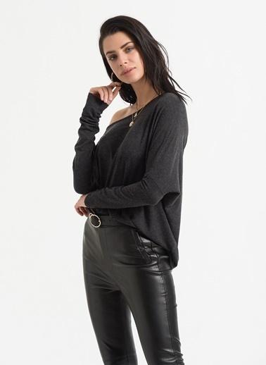 Styletag Kayık Yakalı Bluz Antrasit